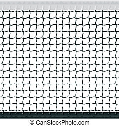 Seamless tennis net