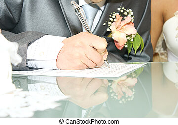 Wedding signature - Groom on solemn registration of marriage...