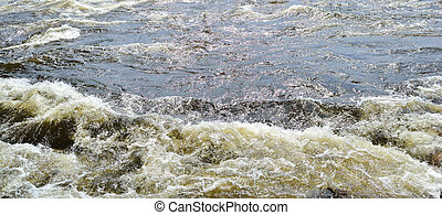Small eddy in a flowing river .