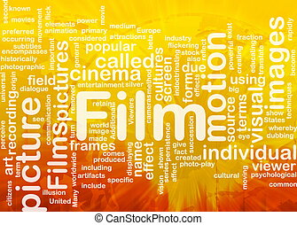 Film picture background concept