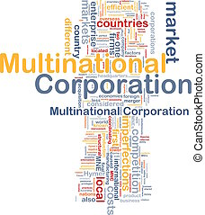 Multinational corporation background concept - Background...