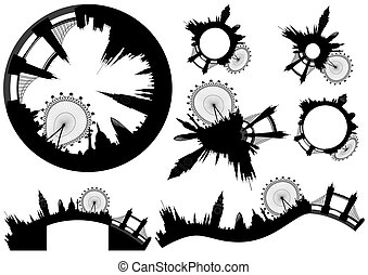 various London skylines - vector - Illustration - various...