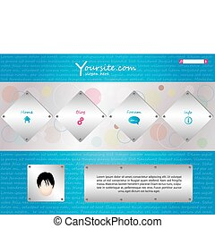 website template in editable vector format