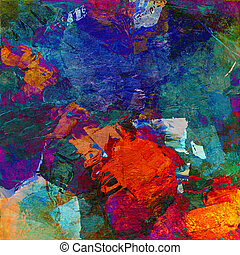 painted image - abstract art - mixed media grunge
