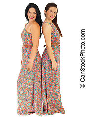 Beautiful women in same dress - Beautiful women wearing same...