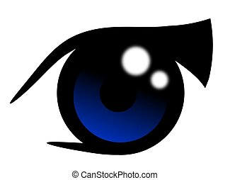 Anime Blue Eye - Illustration of an anime blue eye