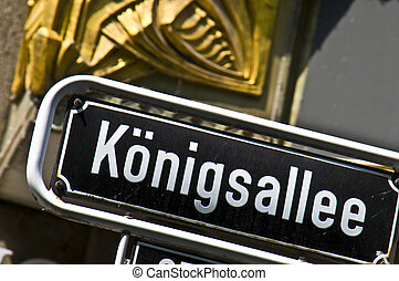 Koenigsallee - street sign of the famous Koenigsallee in...