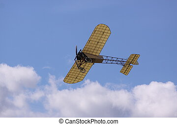 Bleriot XI_Thulin A - This old aircraft, Bleriot, was born...