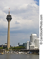 Duesseldorf - part of the skyline of the german city...