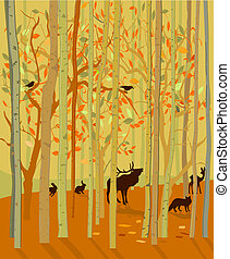 Forest Animals in Autumn