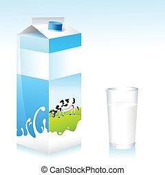 Milk Carton - illustration of cow on milk carton