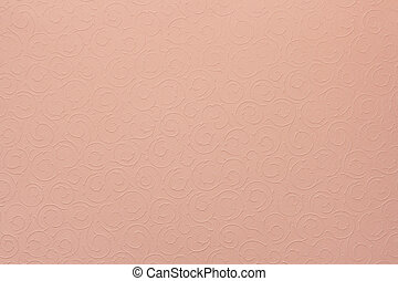 light pink background with round organic ornaments