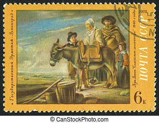 postage stamp - RUSSIA - CIRCA 1972: stamp printed by...