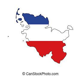 schleswig holstein map - isolated map of schleswig holstein...