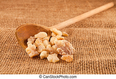 frankincense on hessian