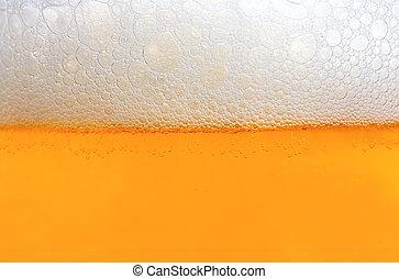 Beer foam background texture