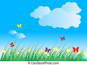Summer - Spring Nature Background