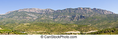 Panorama of the Montsec range in Catalonia, Spain