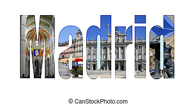 Madrid with different tourist spots
