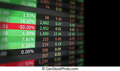 Stock market vertical loop - real stock market screen...