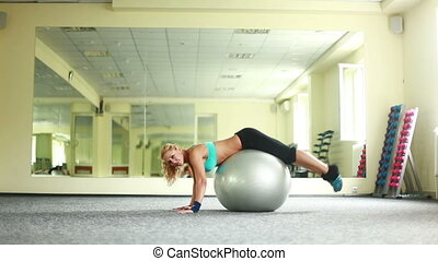 Exercises with fitbol. Dolly HD.