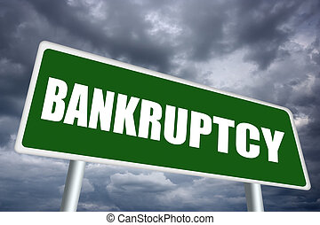Bankruptcy sign - Bankruptcy illustrated sign