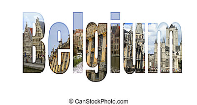 Belgium with different tourist spots