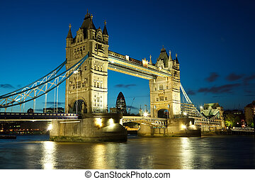 Tower Bridge, London - Tower Bridge from the North Bank at...