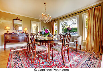 Elegant luxury dining room