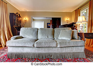 Old antique sofa in the living room - Furniture antique