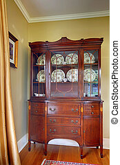 Antique china cabinet - Antique old china cabinet in the...