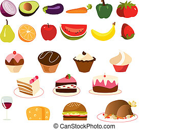 food set vector - is a set of vectors of...