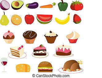 food set vector - is a set of vectors of...