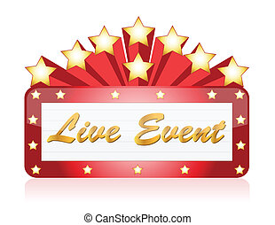 Live event red Star Neon theater
