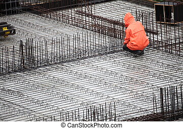 worker in construction building - man, worker in...