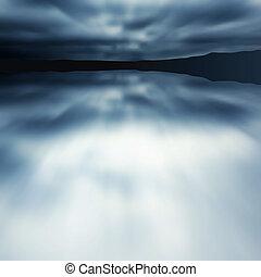 Blue blur lake