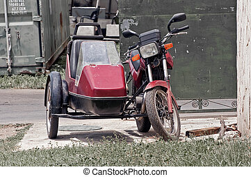 Cuban sidecar. - Old sidecar in the streets of Varadero,...