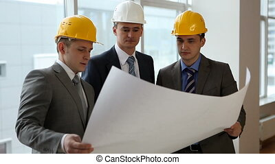 Building issue - Three builders meeting together and...