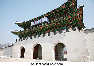 Kwanghwa Gate is the main gate of Gyeongbok Palace which was...