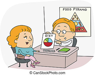 Dietitian - Illustration of a Dietitian at Work