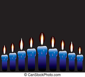 vector row of candles