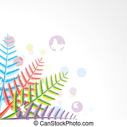 colorful fern leaves - vector design of colorful fern leaves