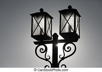 Street light lantern lamp light equipment upon sky