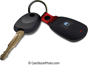 Car key with remote control isolat