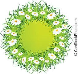 Round flower wreath