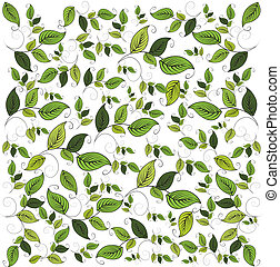 Flower seamless pattern with leaf, element for design, vector illustration