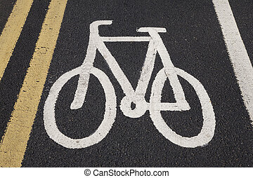 Bike sign painted on to road surface