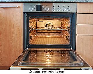 Open oven  - Empty open oven