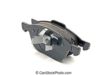 front wheel brake pads - automobile brake pads on a white...