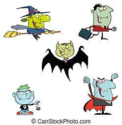 Halloween Monsters Cartoons